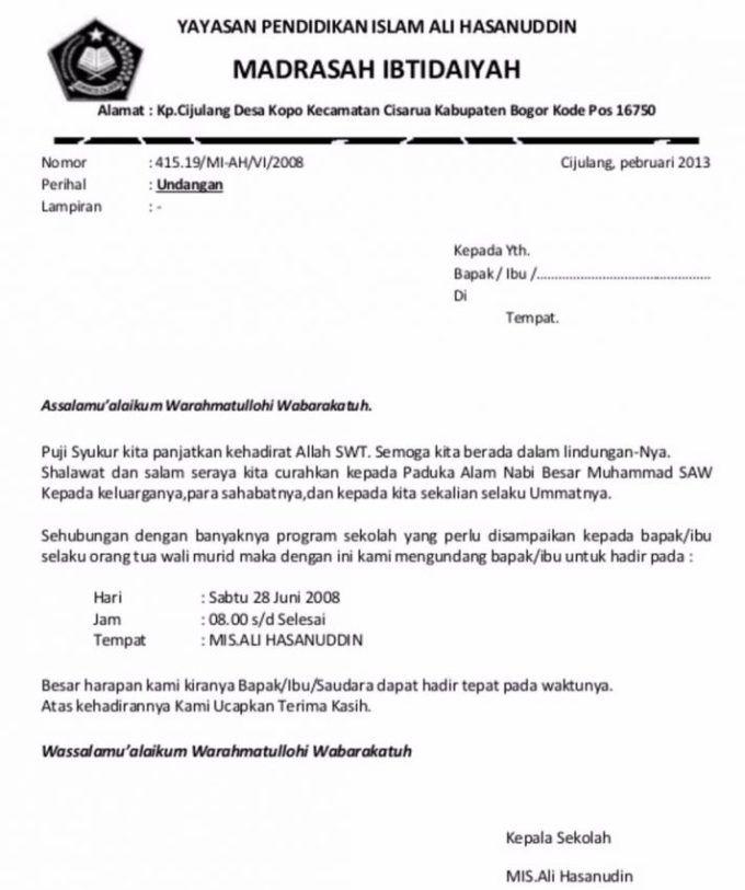 17 Contoh Surat Undangan Rapat Rt Sekolah Dan Perusahaan Resmi