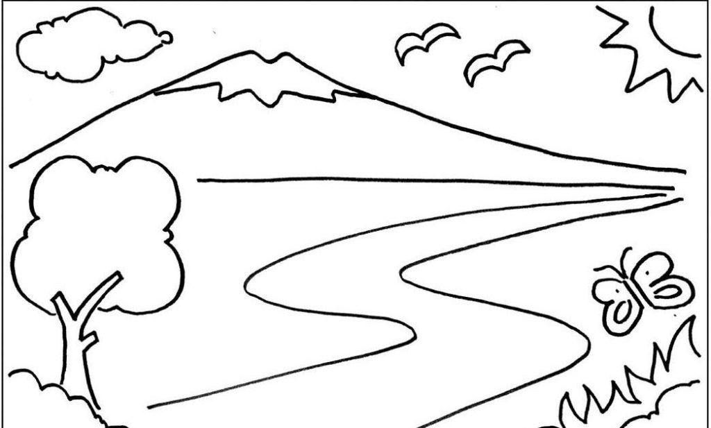 17 Contoh Gambar Pemandangan Alam Gunung Pantai Luat Pedesaan Terupdate