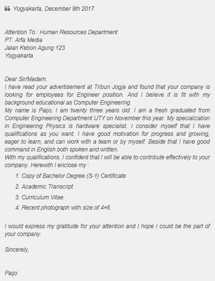 Get Contoh Surat Lamaran Kerja Chef Dalam Bahasa Inggris Dan Artinya Pictures Contohsurat Lif Co Id