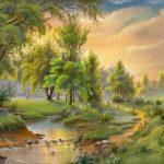 contoh gambar pemandangan alam