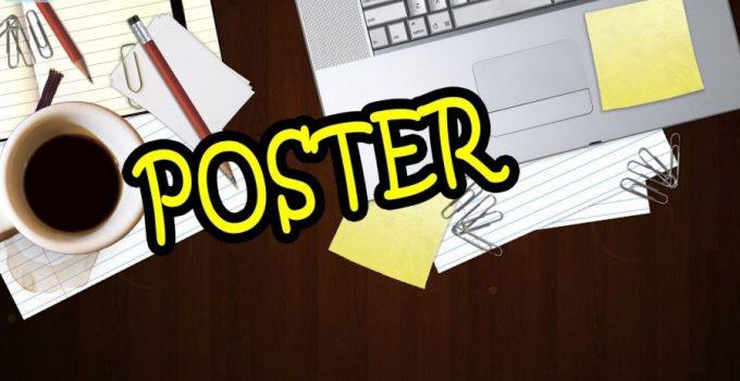 contoh teks poster