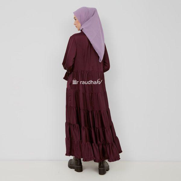 Busana Muslim Burgundy – 00015