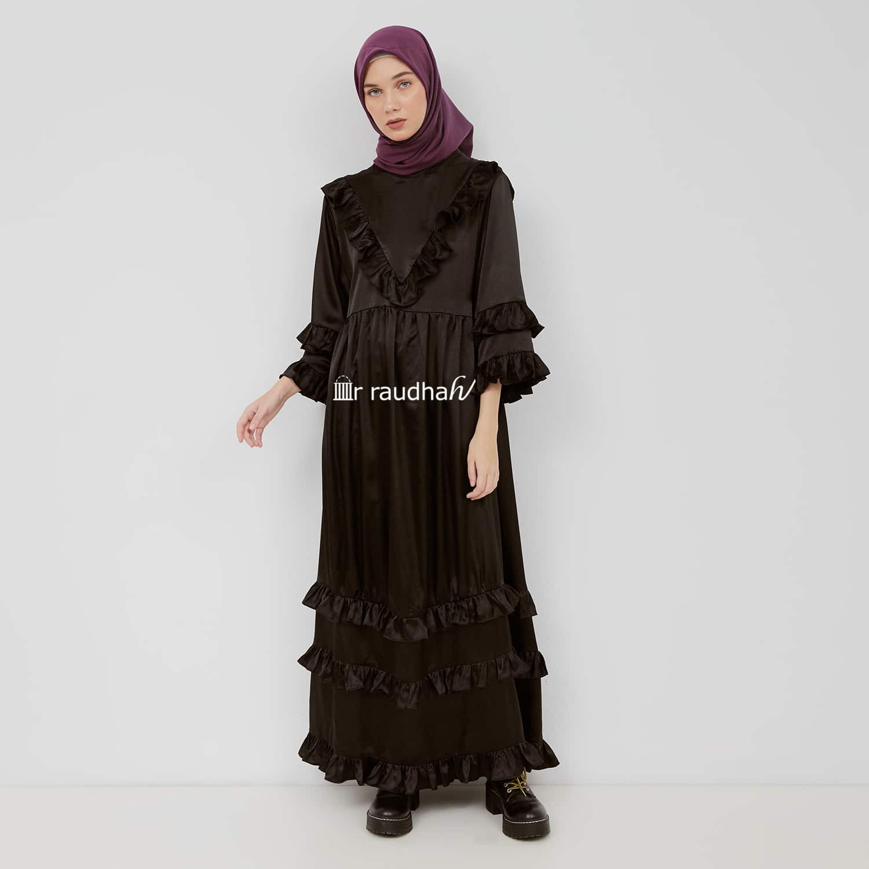 Busana Muslim Ar-Raudhah Hitam – 00011