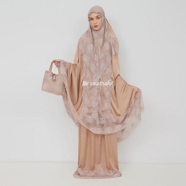 Ar-Raudhah Mukena Brown – 00009