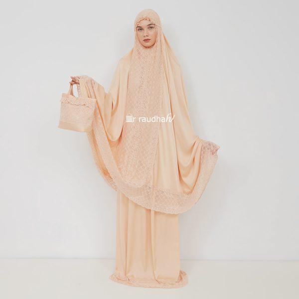 Ar-Raudhah Mukena Orange – 00008