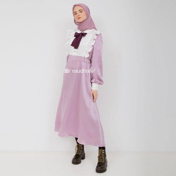 Busana Muslim Wanita Ar-Raudhah Dusty Purple – 00001