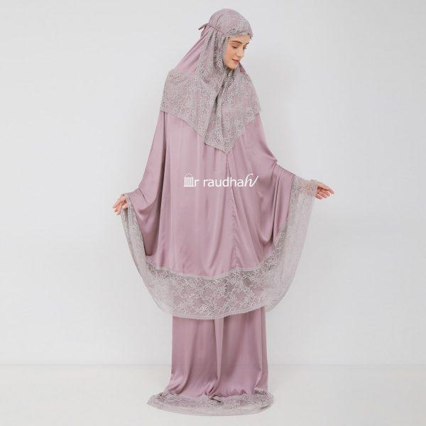 Ar-Raudhah Mukena Dusty Purple – 00002