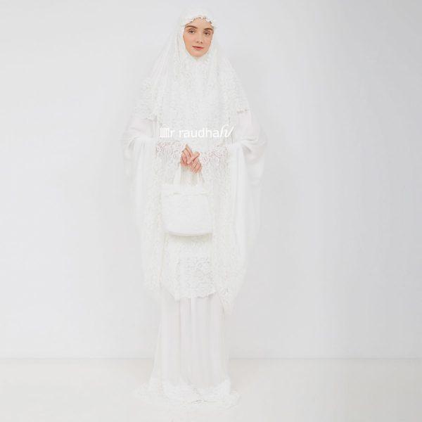 Ar-Raudhah Mukena White – 00003