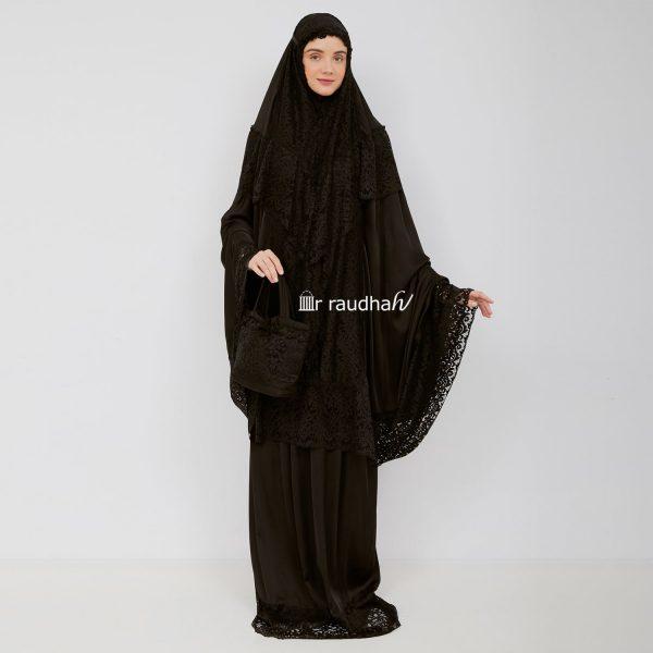 Ar-Raudhah Mukena Black – 00006